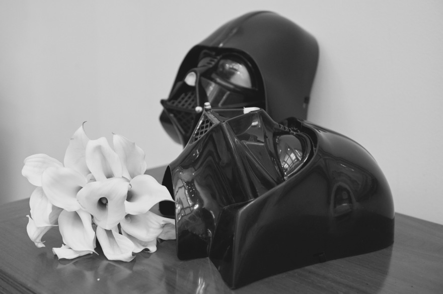 Darth Vader wedding day masks